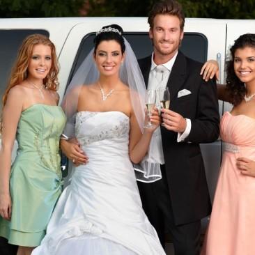 bride-groom-bridesmaids-stretch-suv-destiny